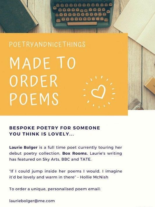 Image of Made to Order Bespoke Poem & Signed Book