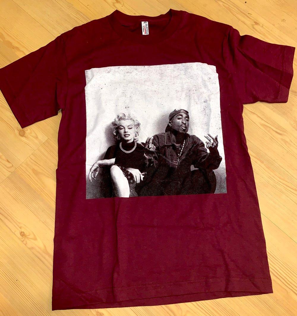 Image of Madonna & Tupac T Shirt Mens
