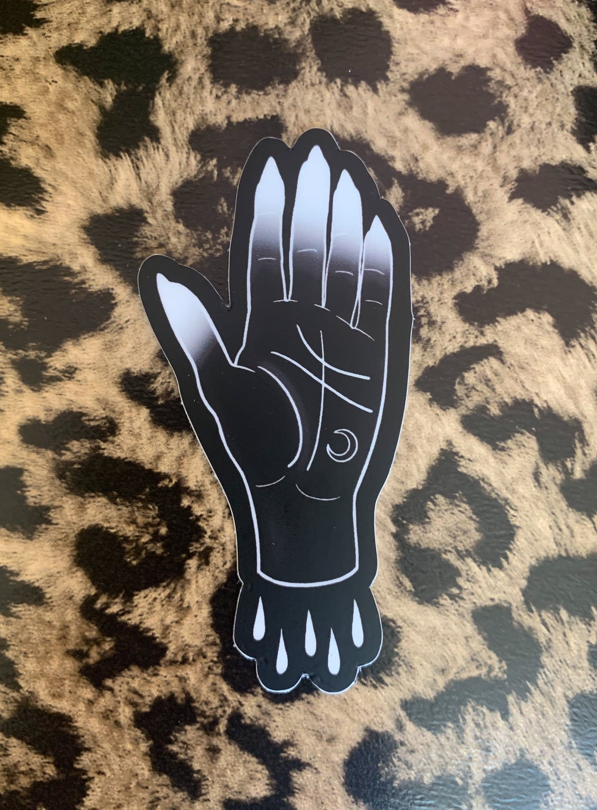 Bleeding Hand Sticker