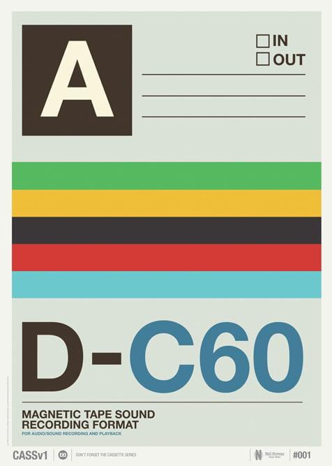 Image of Vintage Cassette Print 01
