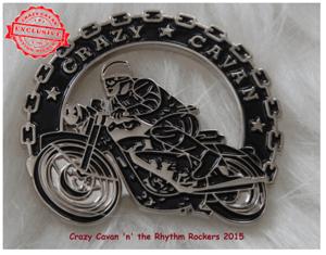 Image of  CRAZY CAVAN BIKER PIN BADGE