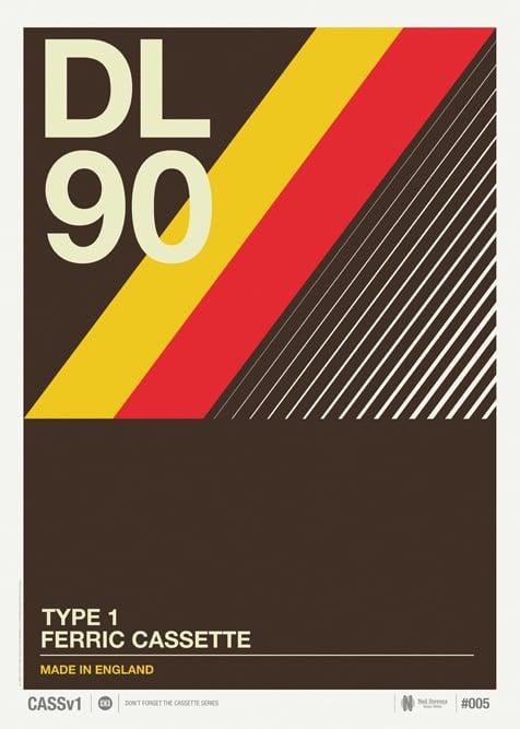 Image of Vintage Cassette Print 05