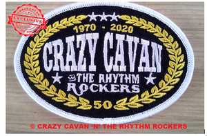 Image of  NEW!! CRAZY CAVAN 50th ANNIVERSARY PATCH OVAL