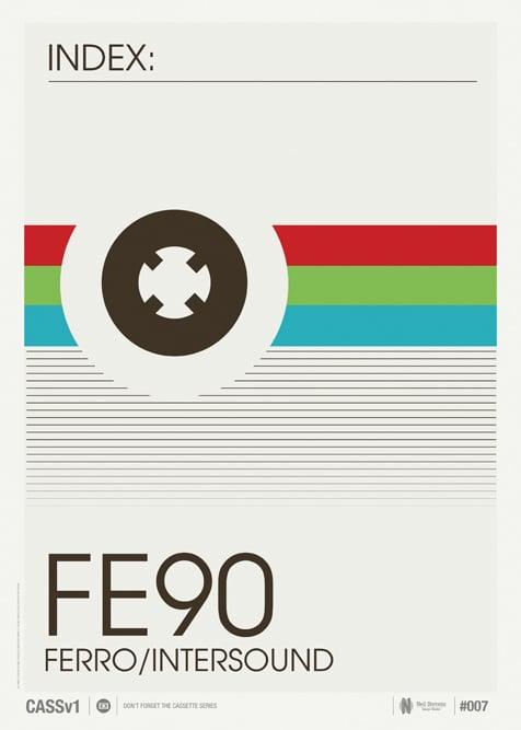 Image of Vintage Cassette Print 07