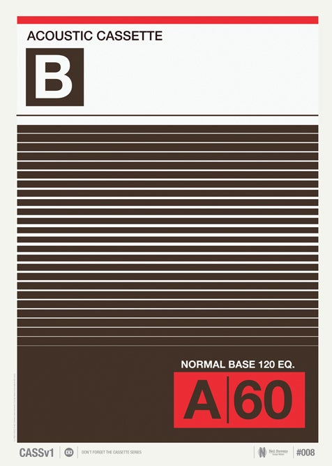 Image of Vintage Cassette Print 08