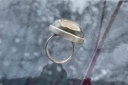 """Image of """"Inspiration"""" silver ring with rock crystal · INSPIRATIO ·"""