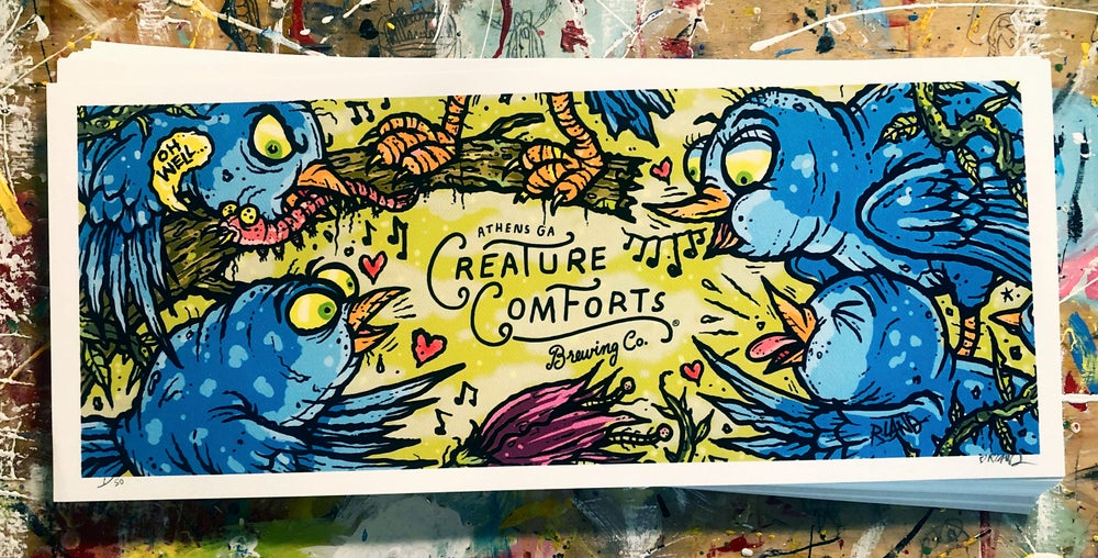 Image of Limited Edition Creature Comforts Ria Pell Ale Print