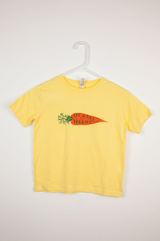 Image of Eat Your Veggies Carrot Toddler T-shirt