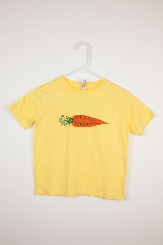 Image of Eat Your Veggies Carrot Toddler T-shirt