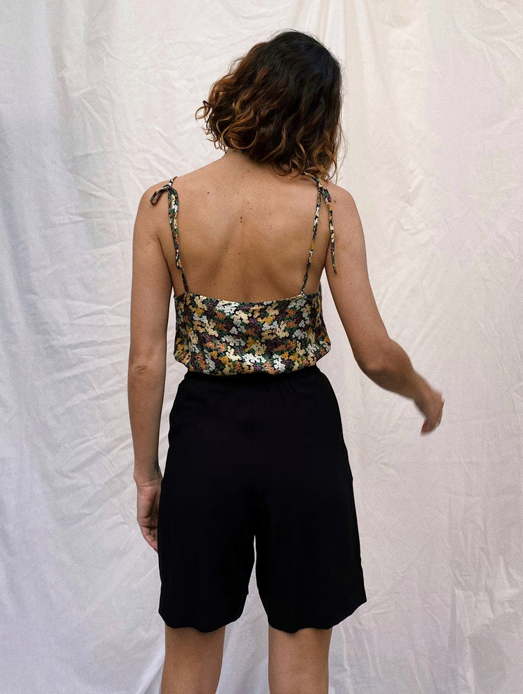 Image of LACE top available in three fabrics IVORI