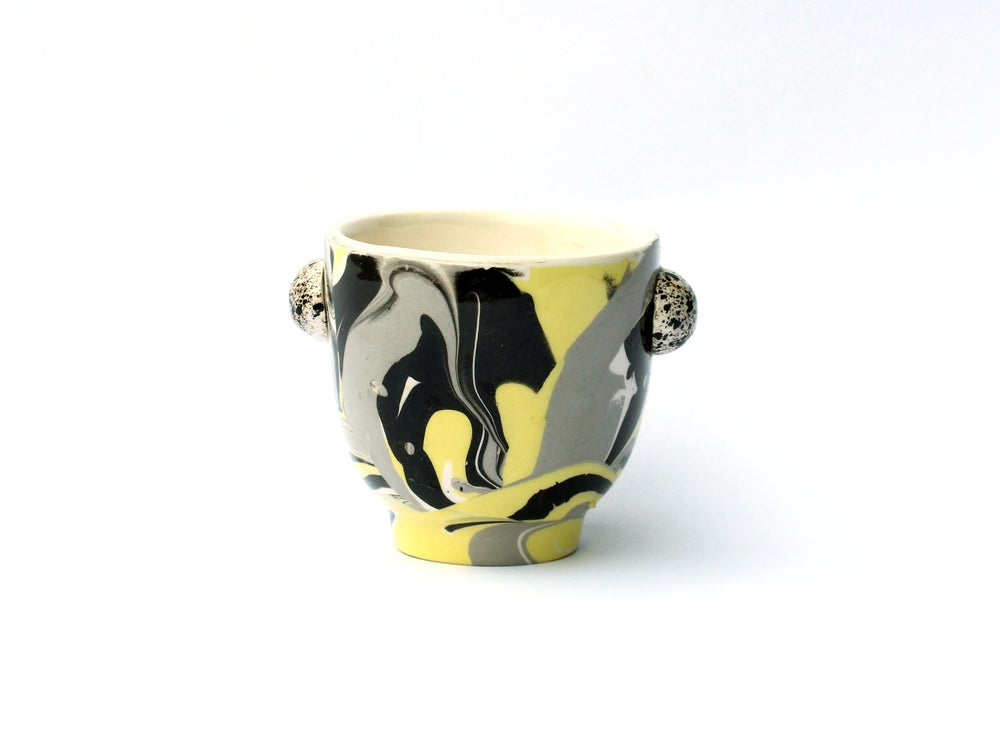 Image of YELLOW MARBLE SMALL CUP