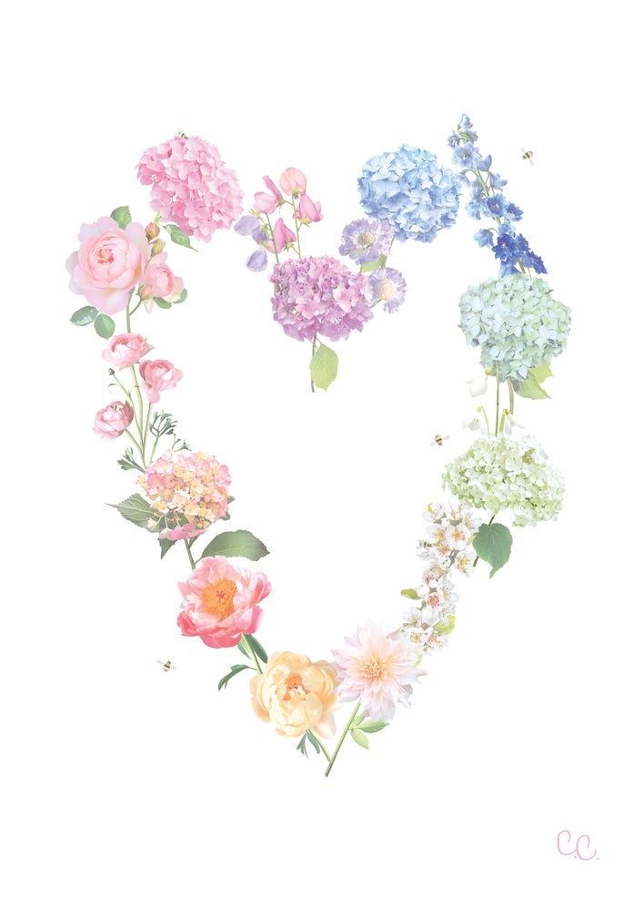 Image of Petal Rainbow Print