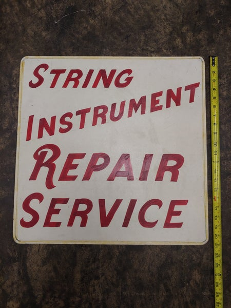 Image of String Instrument Repair hand painted sign