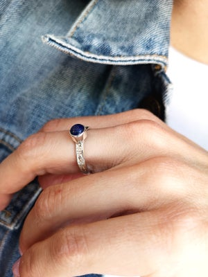 Image of Bague Lapis Lazuli - taille 56 - ref. #5232
