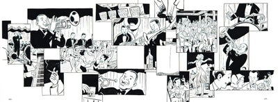 Image of BIX pages 122 & 123 original art