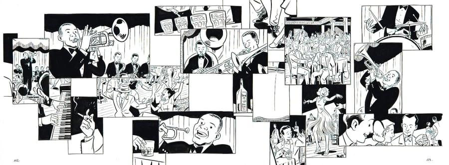 Image of BIX pages 122 & 123 original art