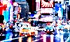 Pointillist NYC. Times Square.