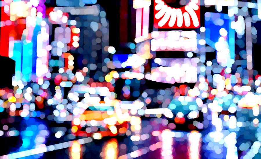 Image of Pointillist NYC. Times Square.