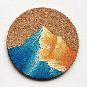 Image of Custom Painted Mountain Coasters