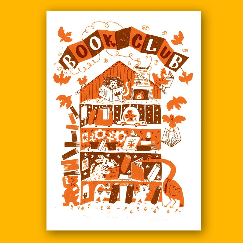 Image of Book Club, Screen Print