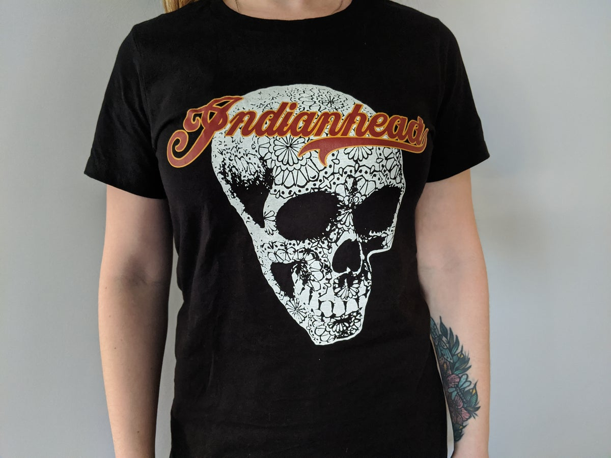 Image of Black womens cut tee shirt