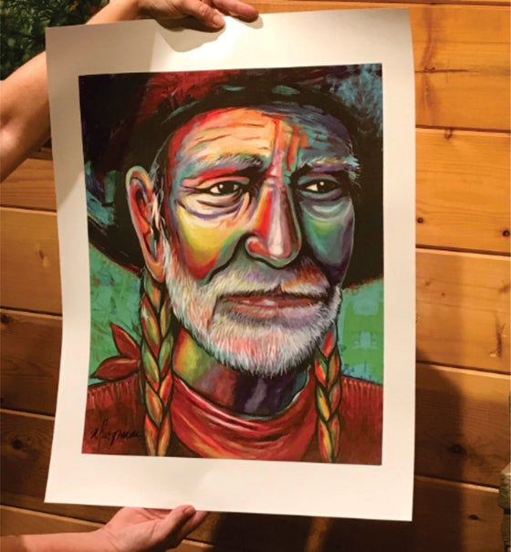 Image of Willie Art Poster