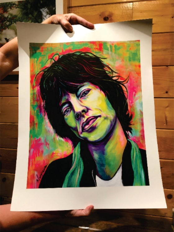"Image of ""Mick"" Art Poster"
