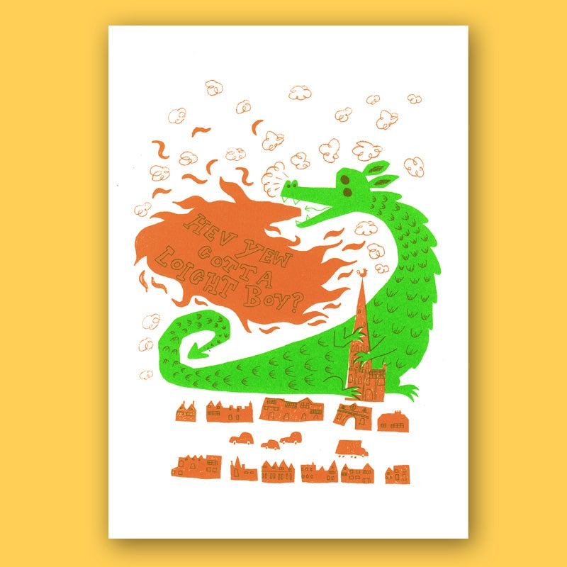 Image of Norwich Dragon, Screen Print