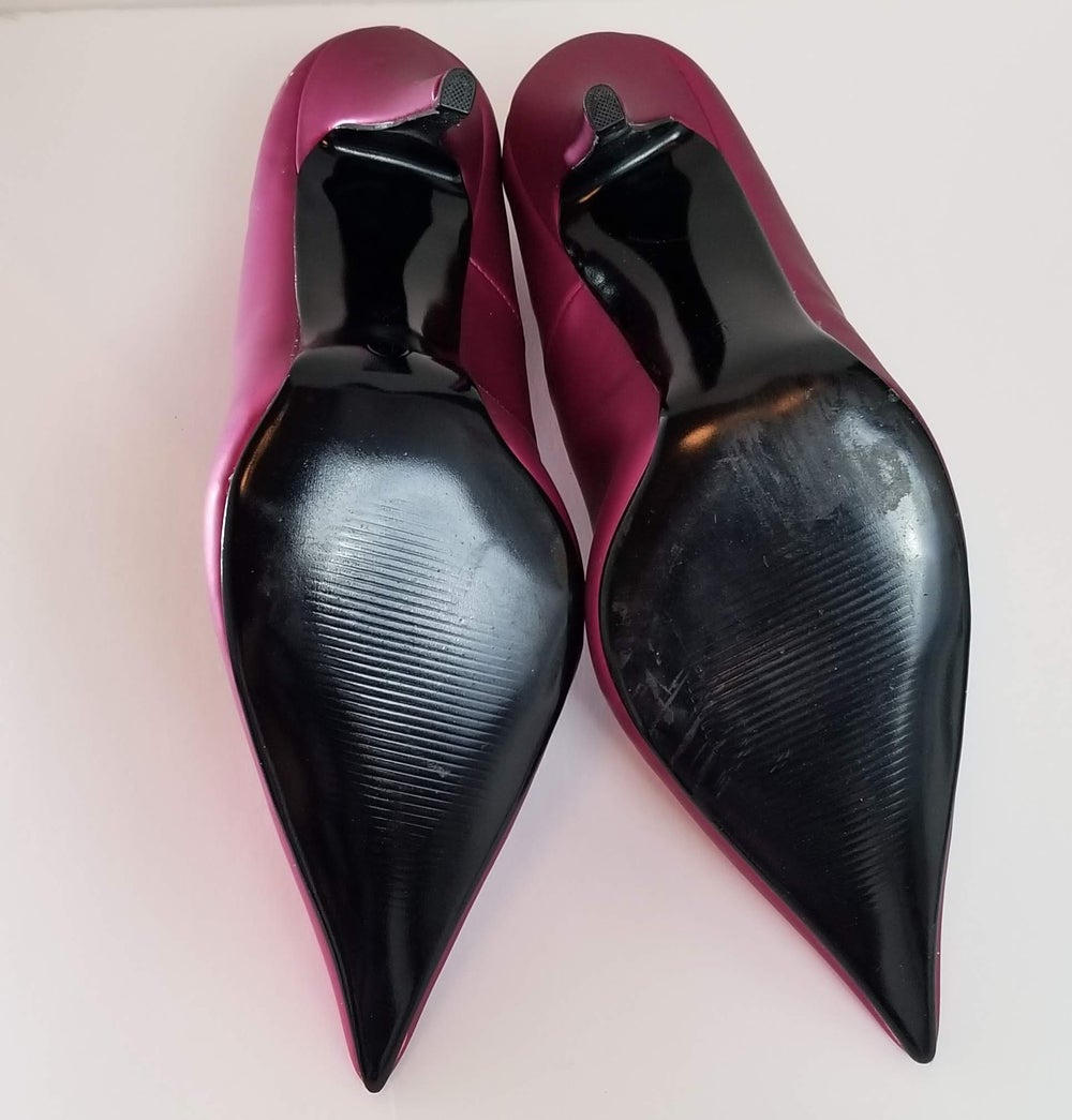 Image of Metallic Purple Pumps - Women's Shoes Size 11