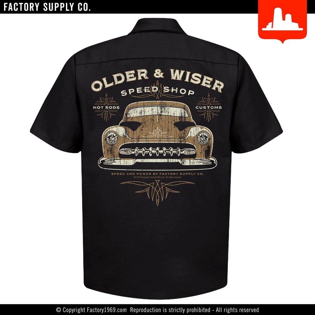 Older & Wiser OW016 - '51 Merc - Red Kap work shirt