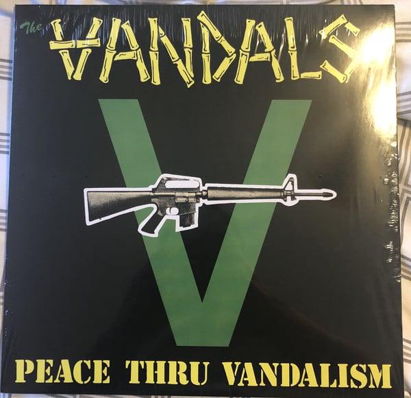 "Image of the VANDALS - ""Peace Thru Vandalism"" 12"" EP (Green Vinyl)"