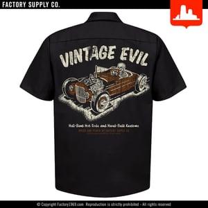 Vintage Evil VE043 - skeleton racer - work shirt