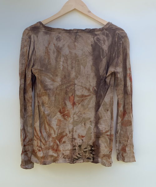 Image of Eco-Dyed Wool Long Sleeve Top