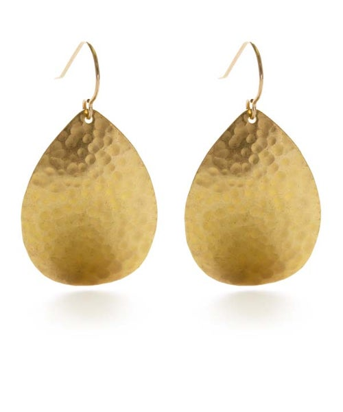 Image of Amano Hammered Teardrop Earrings