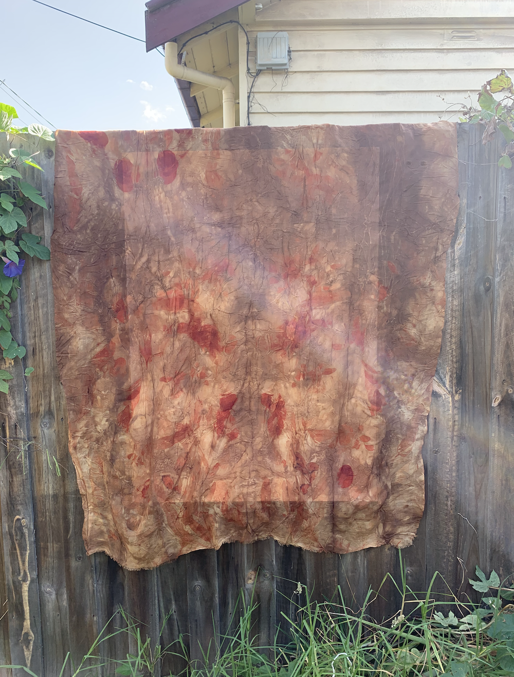 Image of Eco-Dyed Linen Huge Scarf