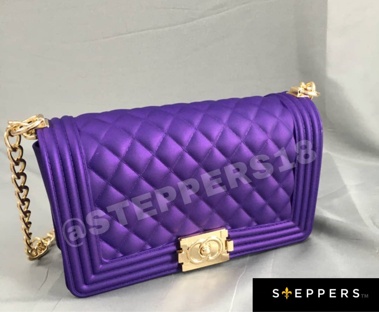 PURPLE RAIN STEPPERS PURSE