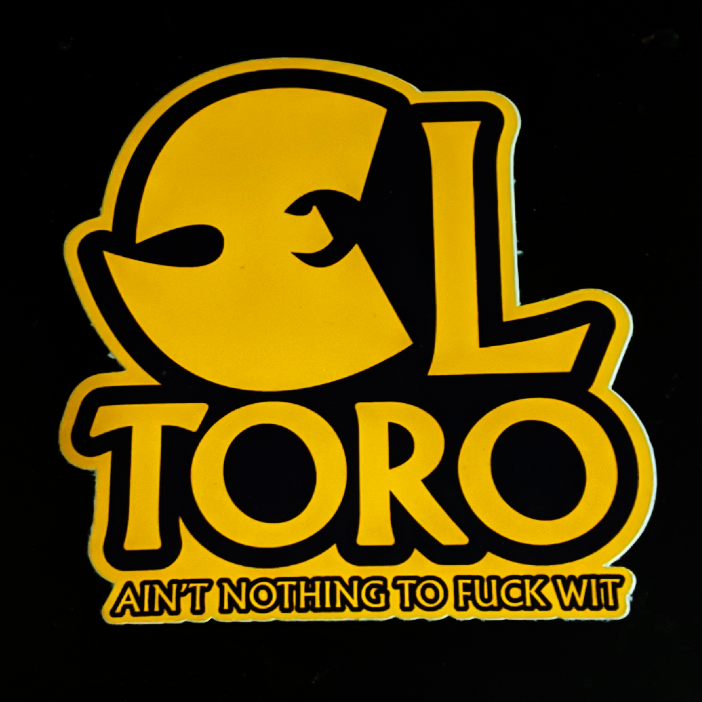 Image of EL TORO Vinyl Sticker Hip Hop Parody
