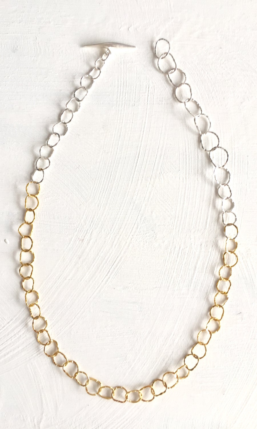 Image of Afiok Single Two-Tone Necklace #1