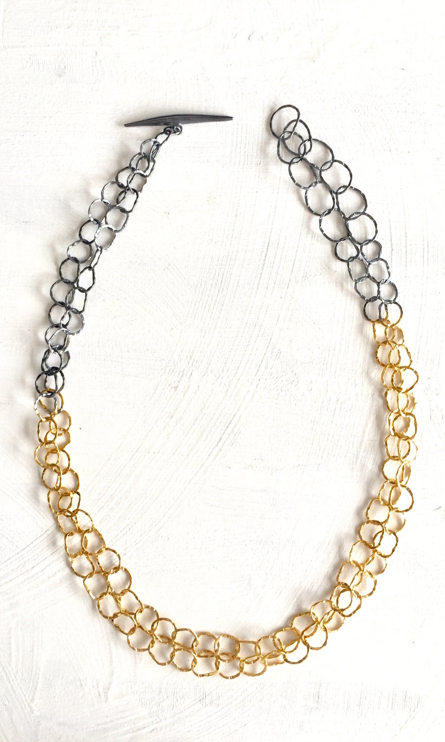 Image of Afiok Double Two-Tone Necklace #1