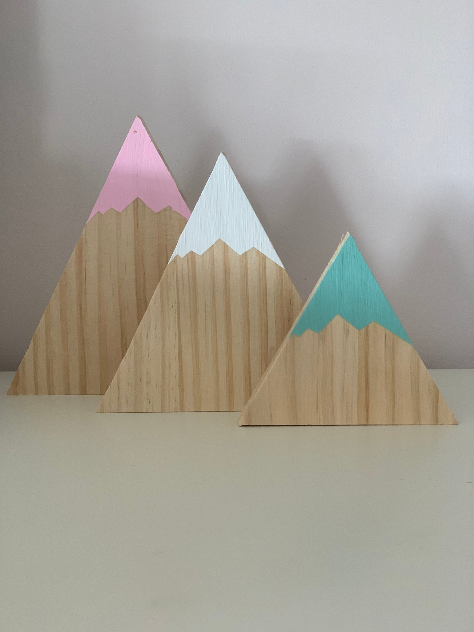 Image of Set of 3 Wooden Mountains