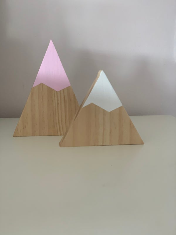Image of Set of 2 Wooden Mountains