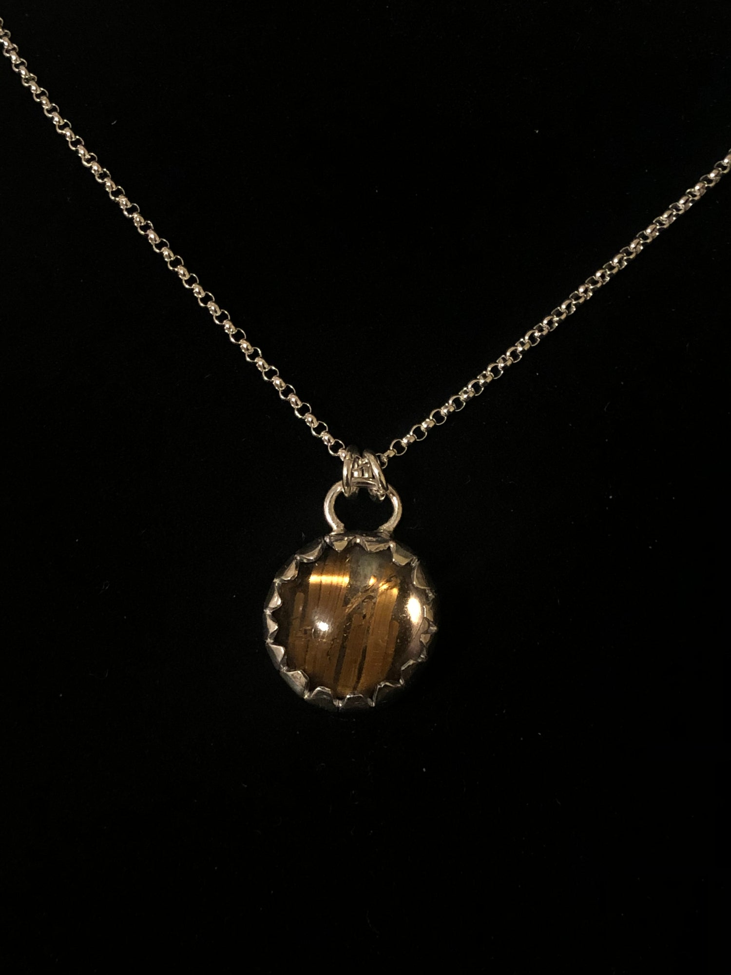 Image of Rutilated Quartz and Silver Pendent