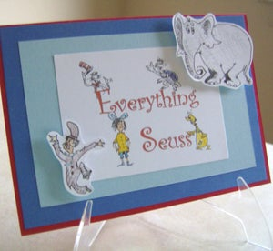 Image of Dr Seuss Custom Birthday Card