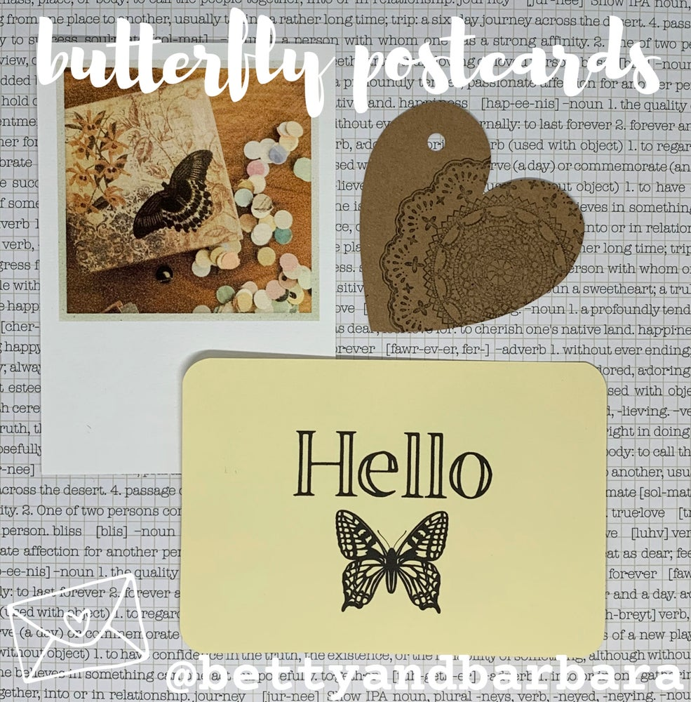 Image of butterfly postcards