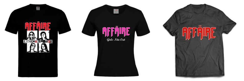 "Image of T-SHIRT ""LESS AIN'T MORE""/ GIRLIE ""GIRLS NITE OUT"""