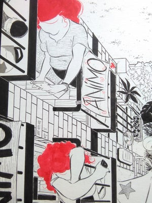 """Image of """"Cuarentena desde los balcones"""" (ilustración original)"""