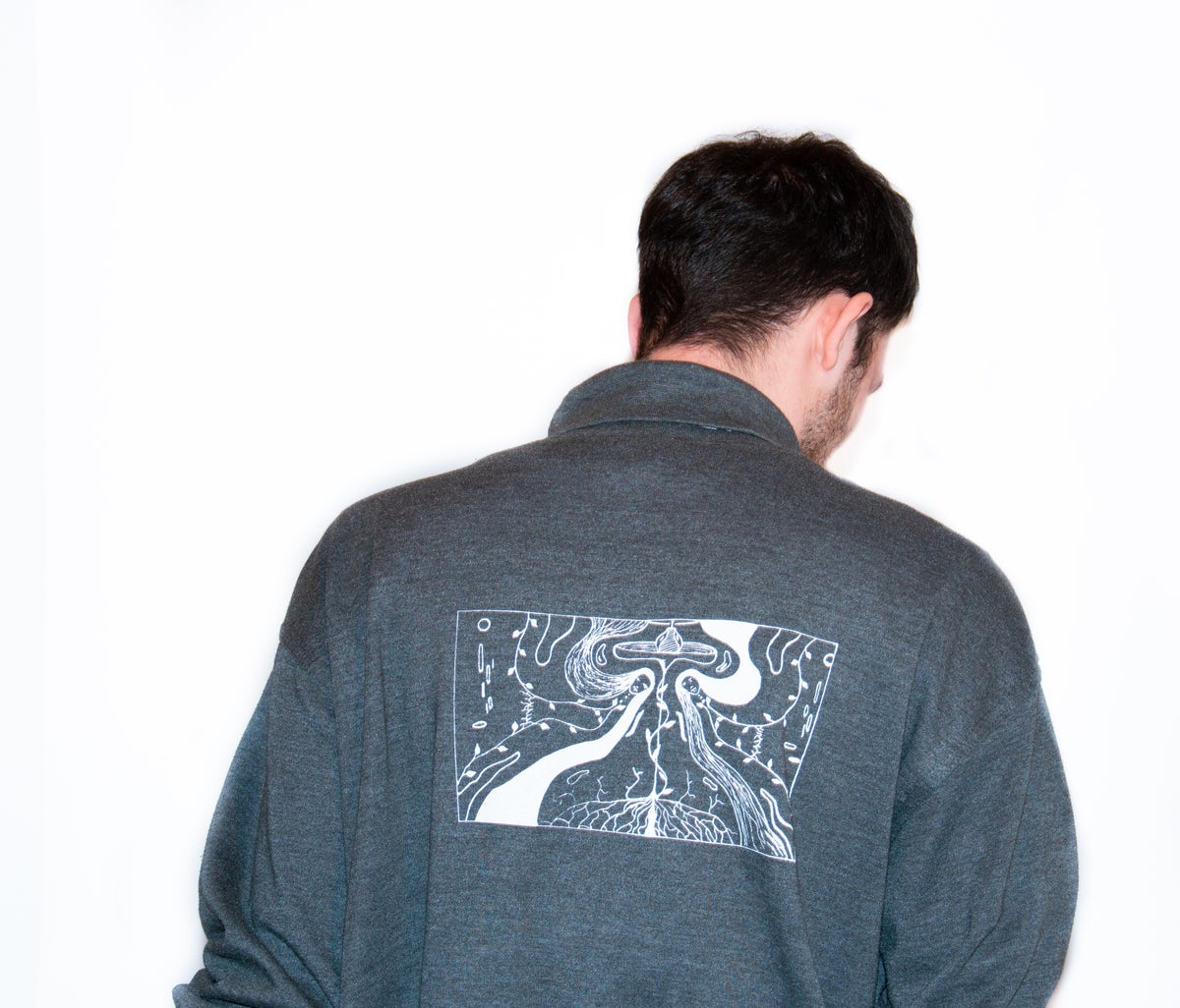 Image of longsleeve with white print