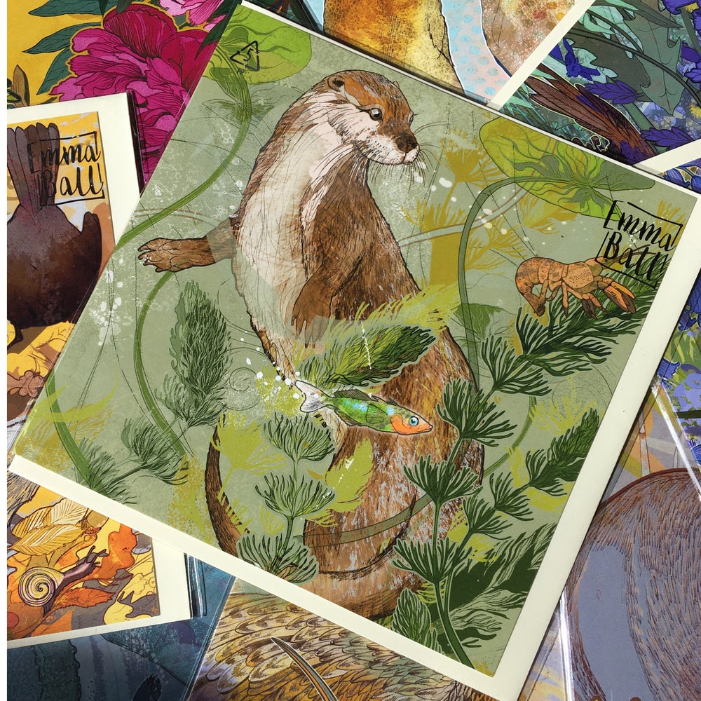 Image of Greetings Card - Otter Encounter