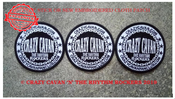 Image of NEW! CRAZY CAVAN ROUND LOGO PATCH - special price £3.00 EACH OR THREE FOR £7.50