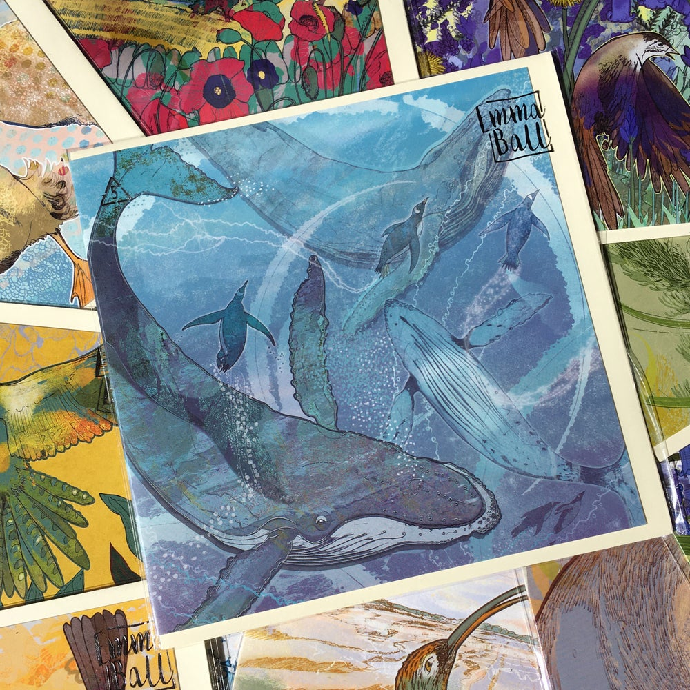 Image of Greetings Card - Whales